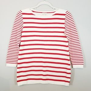 NEW J. Crew Factory Mixed Stripe Sweater